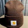 Acrylic Watch Hat, Carhartt, Beanie, Strickmütze, Gross real wear, Braun, Brown