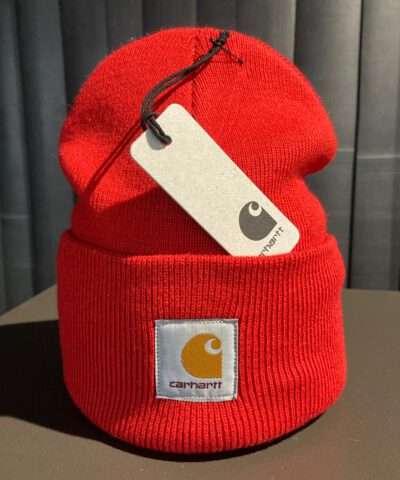 Acrylic Watch Hat, Carhartt, Strickmütze, beanie, Gross real wear München, Rot, Rocketred