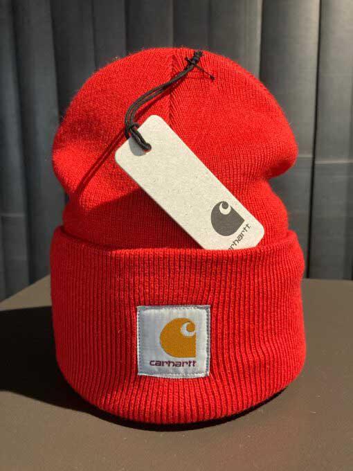 Acrylic Watch Hat, Carhartt, Strickmütze, beanie, Gross real wear München, Rot, Rocketred
