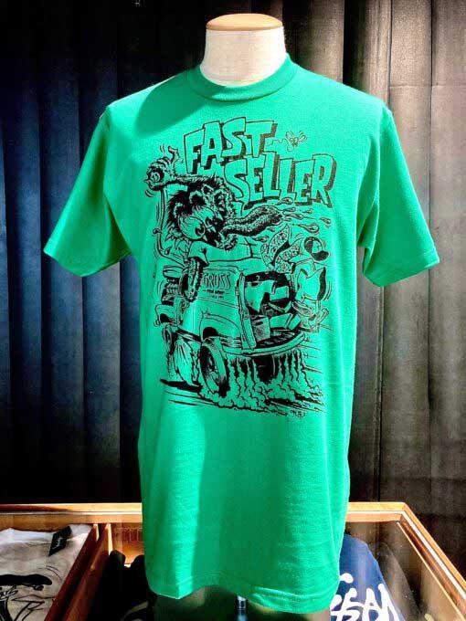 Lowbrow Weirdo T-Shirt, Fast Seller Van, Gross Real Wear, Design von Mihael Kovacec, Farbe grün