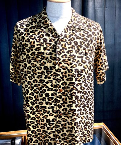 Star of >Hollywood, Leopard, Shirt, Rayon, Viscose, Gross real wear, Toyo Enterprise, Light Brown, SH38380
