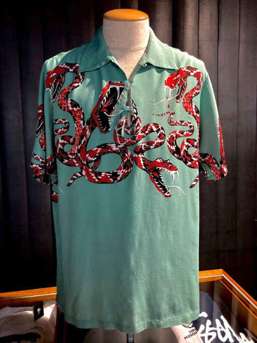 Star of Hollywood, Rattle Snake, Gaucho, Rayon, Viscose, Shirt, Gross real wear, Petrol