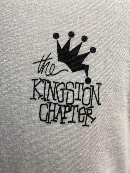 Stüssy, Kingston Chapter, T-Shirt, Baumwolle, Gross real wear, Weiß, White