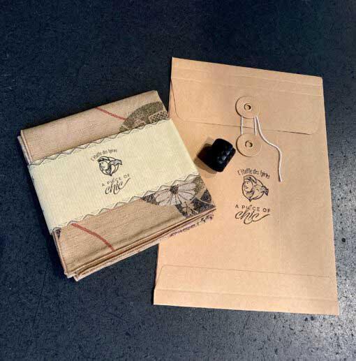 A Piece of Chich Japan Cotton Bandana, Tuch, Gross real wear Muenchen, Beige