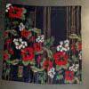 A Piece of Chic, Tiki, Seide, Silk, Tuch, Schal, Gross real wear, Blumen, Flowers, Hawaii, Black, Schwarz