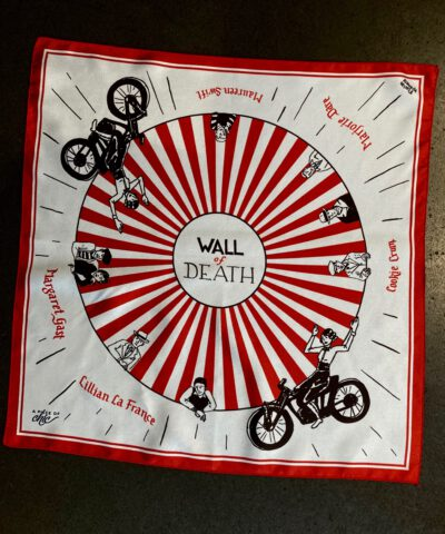 A Piece Of Chic, Wall of Death, Seidenschal, Silk, Seide, Bandana, Halstuch, Gross real wear