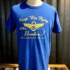 Buzz Rickson's, 534th Bomb Sqadron, 8th Air Force, Gross real wear, T-Shirt, Royal, BR78448