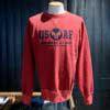 Buzz Rickson's US Air Force Sweatshirt, Crewneck, Gross real wear München, Red