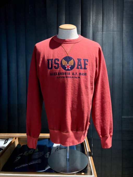 Buzz Rickson's US Air Force Sweatshirt, Crewneck, Gross real wear München, Red