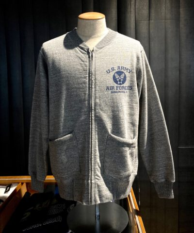 Buzz Rickson's Zip Sweat Shirt, Heather Gray, Gross real wear München
