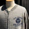 Buzz Rickson's Zip Sweat Shirt, Heather Gray, Gross real wear München