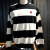 Carhartt Alvin Stripe Sweatshirt, Black, White, Gross real wear, I028348.wrw.90.03-01
