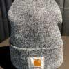 Carhartt WIP Acrylic Watch Hat, Melange Strickmütze Black, Gross real wear München