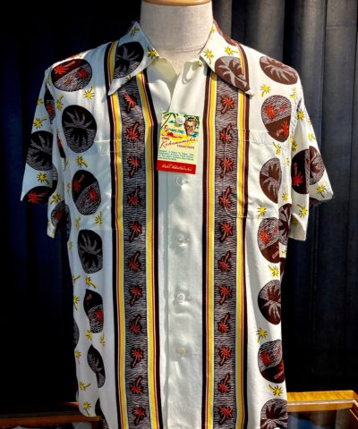 Duke, Kahanamoku, Palm, Tree, Hawaiian Shirt, Rayon, Viscose, Loopcollar, Reversekragen, Black, Gross real wear