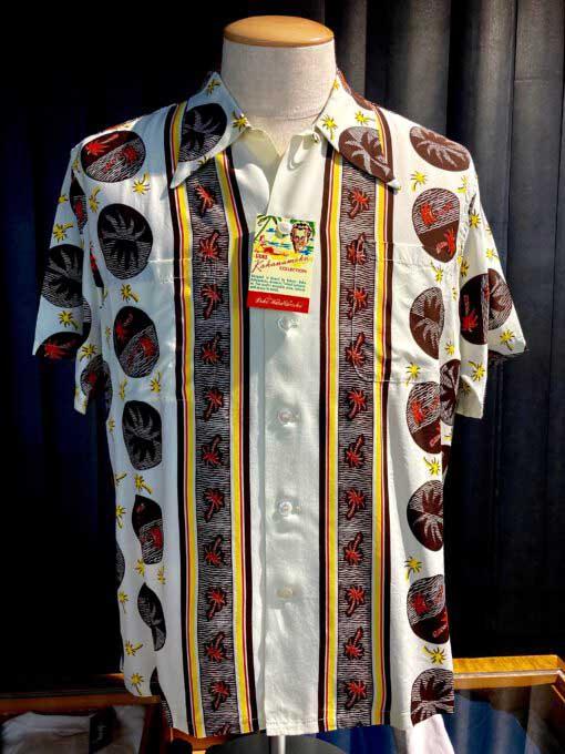 Duke, Kahanamoku, Palm, Tree, Hawaiian Shirt, Rayon, Viscose, Loopcollar, Reversekragen, Black, Gross real wear