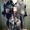 Duke, Kahanamoku, Palm, Tree, Hawaiian, Shirt, Rayon, Viscose, Loopcollar, Reversekragen, Black, Gross real wear