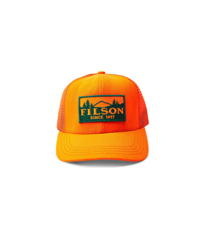 Filson logger Mesh Cap, Gross real wear München, Truckercap, Blazeorange