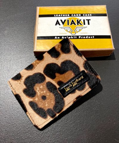Lewis Leathers, Cardholder, Kartenetui, Fake Fur, Kunstfell, Leder, Leather, Leopard, Gross real wear