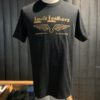 Lewis Leathers Logo, Black, Gold, T-Shirt, Cotton, Gross real wear, London
