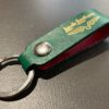 Lewis Leathers, Schlüsselanhänger, Keyring, Leder, Leather, Gross real wear, Grün, Green