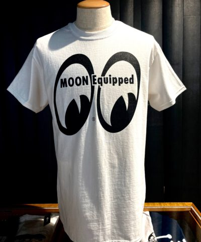 Moon Equipped, Mooneyes, Gross real wear München, Weiss, White