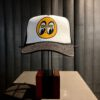 Moon Logo, Trucker, Cap, Hat, Gross real wear, Black, CM002