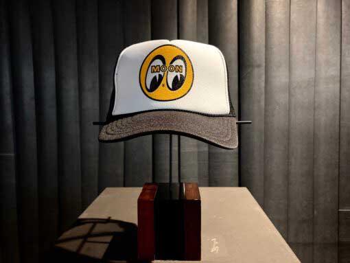 Moon Logo, Trucker, Cap, Hat, Gross real wear, Black, CM002