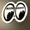 Moon, Patch, Mooneyes, Equiped, Weiss, White, Gross real wear