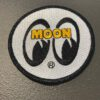 moon, patch, mooneyes, white, weiß, gross real wear