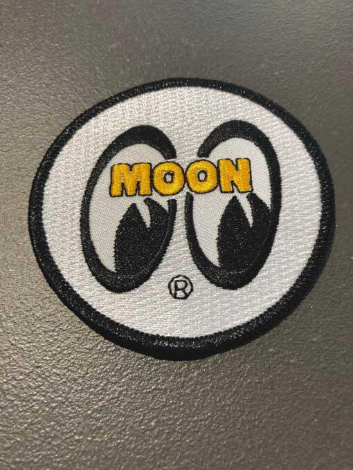 moon, patch, mooneyes, white, weiß, gross real wear