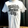 Lettering T-Shirt, Munich Fuckin City, Gross Real Wear, Farbe weiß