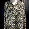 Star of Hollywood, Leopard, Grau Gray, Rayon, Viscose, 1950. Gross real wear, Hemd, Shirt, Reverskragen, Loopcollar