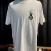 Stüssy, Crown Link, T-Shirt, Baumwolle, Cotton, Gross real wear, Weiss, White