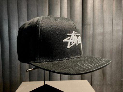 Stüssy, Stock Logo, Baseball Cap, Gross real wear München, Black