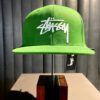 Stüssy, Stock Logo, Baseball Cap, Gross real wear, Green, Grün