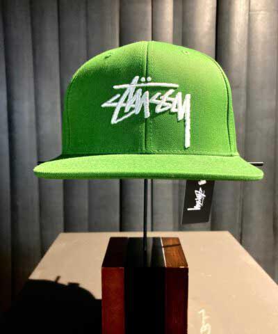 Stüssy, Stock Logo, Baseball Cap, Gross real wear, Green, Grün
