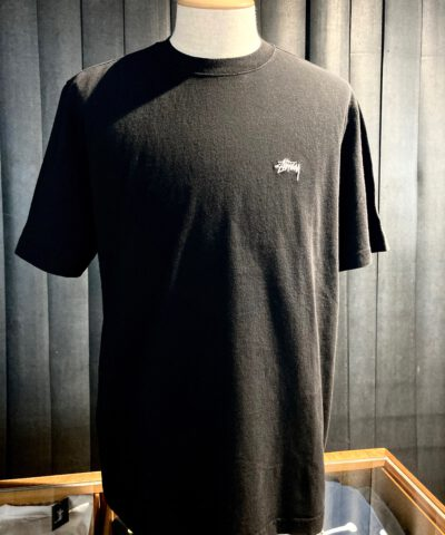 Stüssy, Stock Link, T-Shirt, Baumwolle, Cotton, Gross-real wear, Schwarz, Black