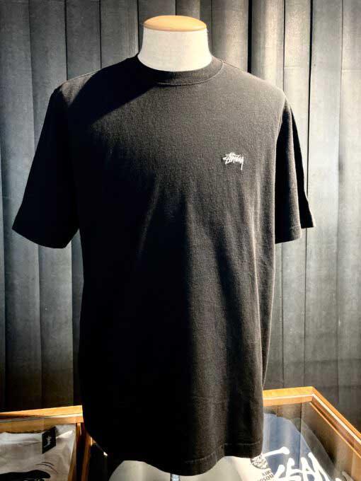 Stüssy, Stock Link, T-Shirt, Baumwolle, Cotton, Gross-real wear, Schwarz, Black