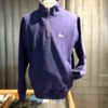 Stüssy Stock Logo Mock Sweatshirt mit Reißverscluß, Gross real wear Muenchen, Leistentaschen, Navy