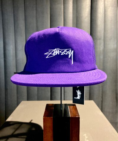 Stüssy, Smooth Stock CT Foam, Trucker Cap, Baseball Cap, Mesh, Lila, Purple, Gross real wear