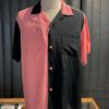 Style Eyes, Duo Tone, Rayon, Viscose, Bowling Shirt, Gross- eal wear, Pink, Black, SE38370