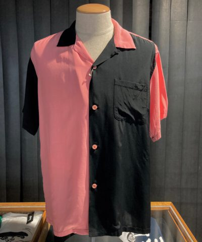 Style Eyes, Duo Tone, Rayon, Viscose, Bowling Shirt, Gross- eal wear, Pink, Black, SE38370