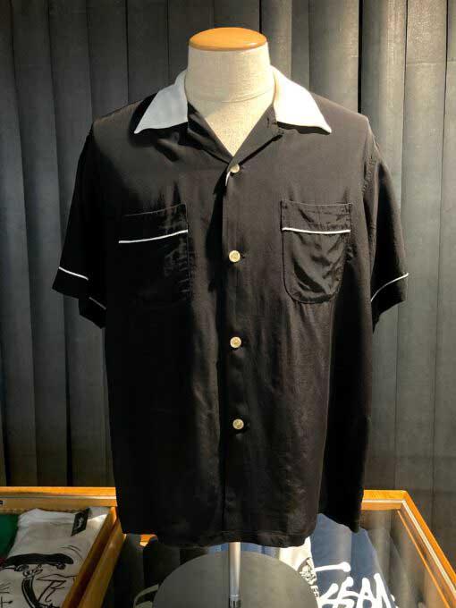Style Eyes, Two Tone, Bowling Shirt, Rayon, Viscose, Gross real wear, Black, SE37802