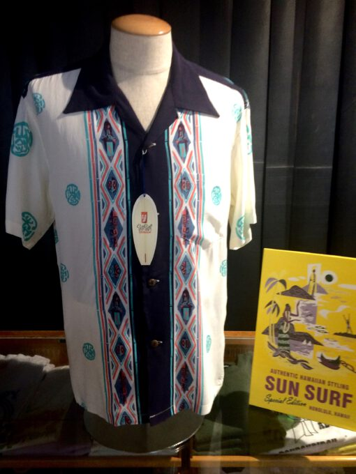 Sun Surf, Club Oriental, Hawaiian Shirt, Rayon, Viscose, Gross real wear, Off White, SS38476