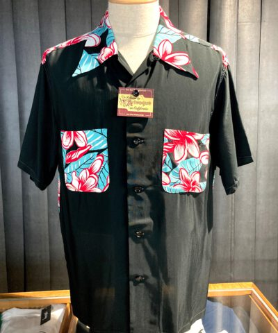 Sun Surf, Hula Girl, Hawaiian Shirt, Rayon, Viscose, Gross real wear, Black, SS38423