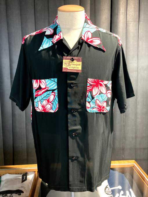 Sun Surf, Hula Girl, Hawaiian Shirt, Rayon, Viscose, Gross real wear, Black, SS38423