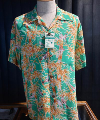 Sun Surf, Sparrows Hideout Bamboo, Hawaiian Shirt, Rayon, Viscose, Gross real wear, Green, SS38039