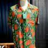 Sun Surf, Srew Pine Border, Hawaiian Shirt, Rayon, Viscose, Gross real wear, Green, SS38042