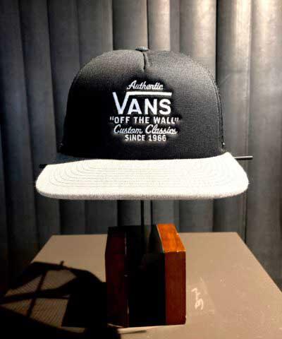 Vans, Off The Wall, Trucker Cap, Gross real wear, Black