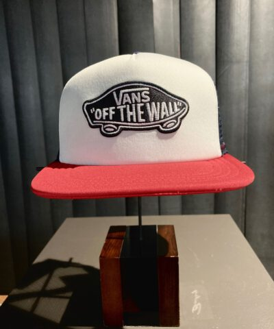 Vans Off The Wall, Trucker Cap, Mesh, Gross real wear, Navy, White, Red